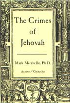 The Crimes of Jehovah, by Mark Mirabello cover graphic