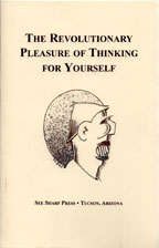 The Revolutionary Pleasure of Thinking for Yourself cover graphic