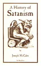 A History of Satanism, by Joseph McCabe cover graphic