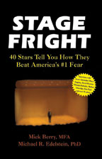 Stage Fright, by Mick Berry and Michael R. Edelstein, PhD, cover graphic